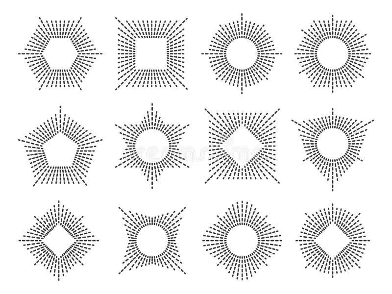 Het kaderreeks van het lijnmonogram stock illustratie