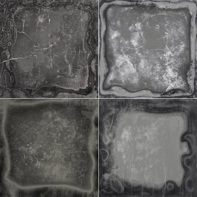 Het kadertexturen van inzamelings abstracte grunge stock afbeeldingen