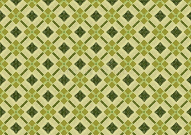 Het kaki Groene Patroon van de Diamant stock foto