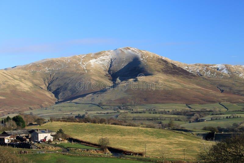 Het kalf, Howgill fells van Beckfoot, Cumbria. royalty-vrije stock fotografie