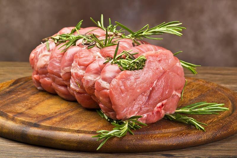 Het Kalfsvlees van het braadstuk stock foto's