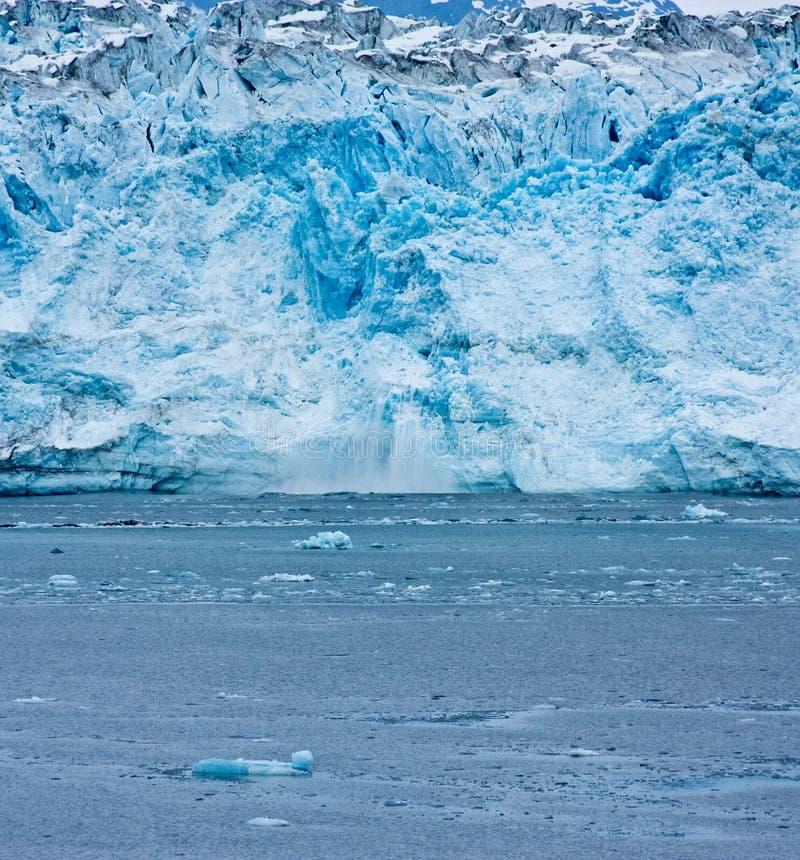 Het kalven Gletsjer stock afbeelding