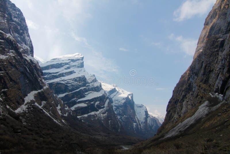 Het kamp van de trekkingstoâ Annapurna basis stock foto's