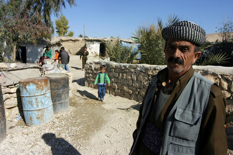 Het Kamp van de Vluchteling van Mahmur stock fotografie