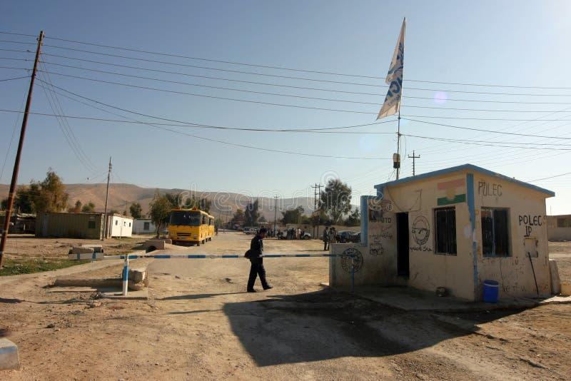 Het Kamp van de Vluchteling van Mahmur stock foto's