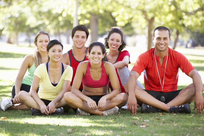 Het Kamp van instructeursrunning fitness boot royalty-vrije stock fotografie