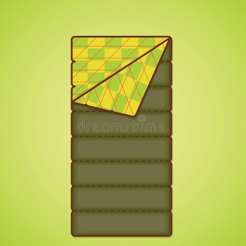 Het kamperen apparatuur Het kamperen zak vector illustratie