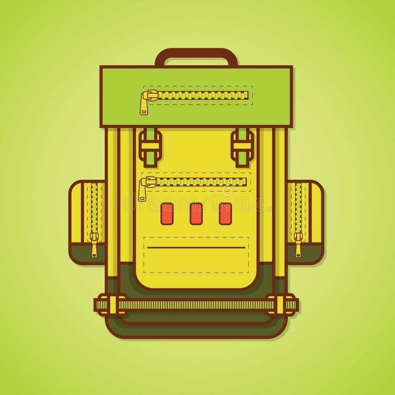 Het kamperen apparatuur rugzak vector illustratie