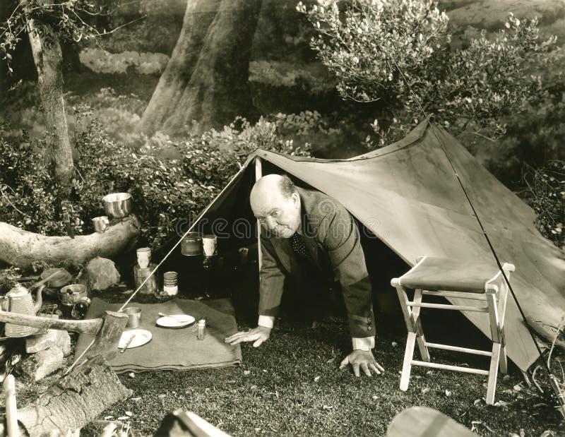 Het kamperen bezorgdheid royalty-vrije stock fotografie