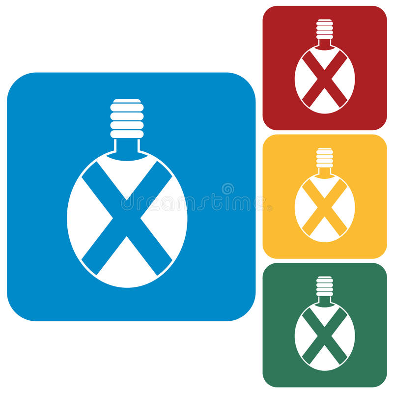 Het kamperen fles vectorpictogram stock illustratie