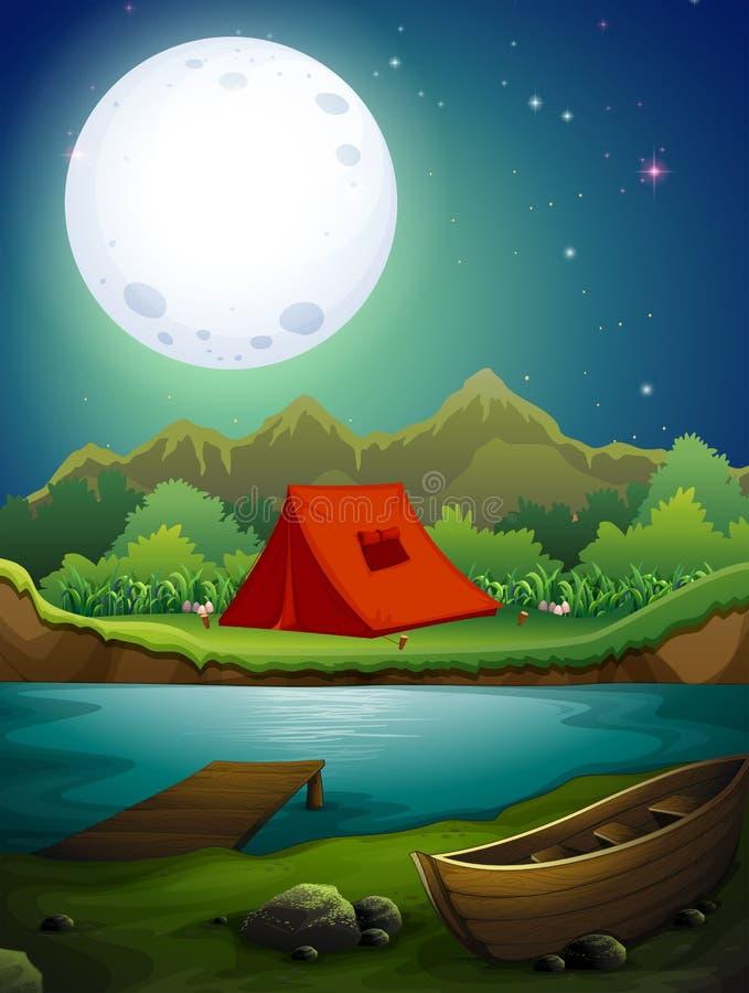 Het kamperen grond vector illustratie