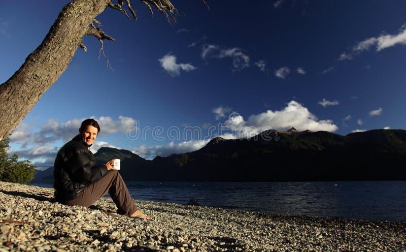 Het kamperen Koffie stock afbeeldingen