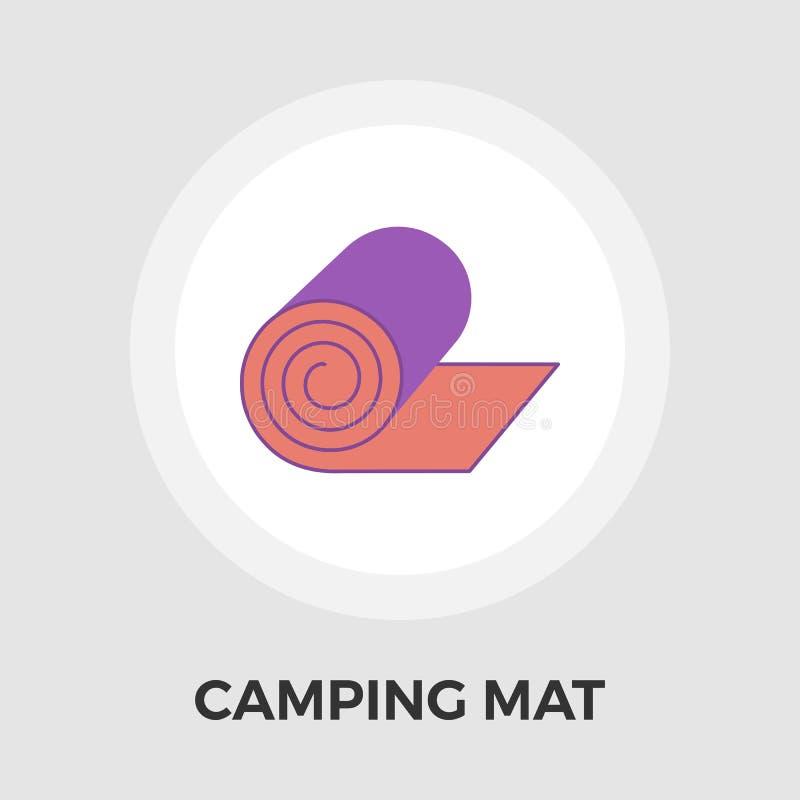 Het kamperen mat Vector Vlak Pictogram royalty-vrije illustratie