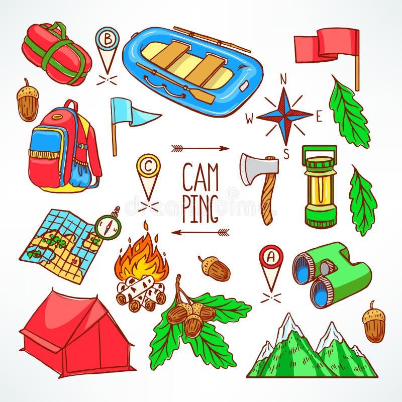 Het kamperen materiaal vector illustratie