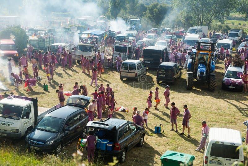 Het kamperen na Haro Wine Festival-festival stock fotografie