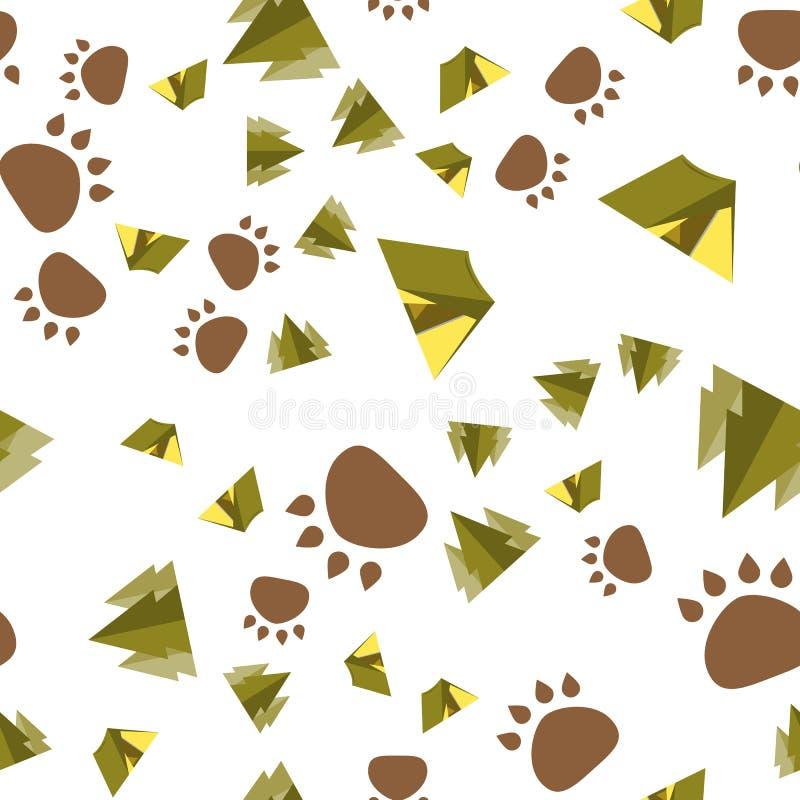 Het kamperen Naadloos patroon met het kamperen toestellen stock illustratie