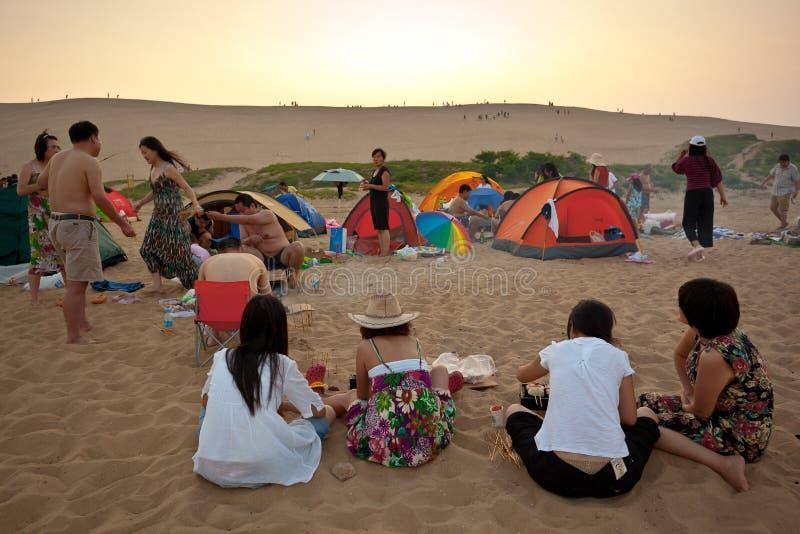 Het kamperen picknick royalty-vrije stock foto