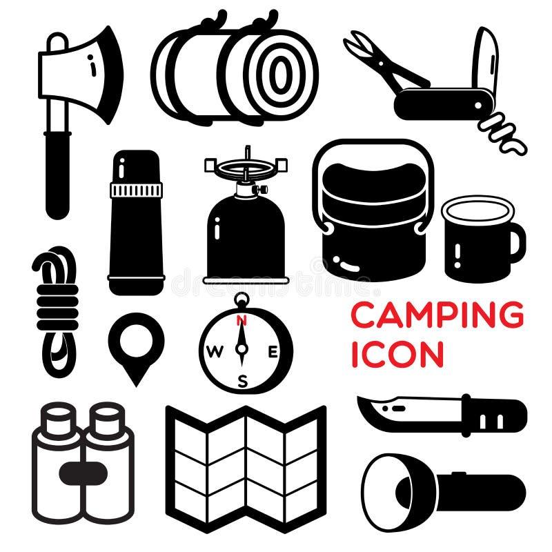Het kamperen pictogram stock illustratie