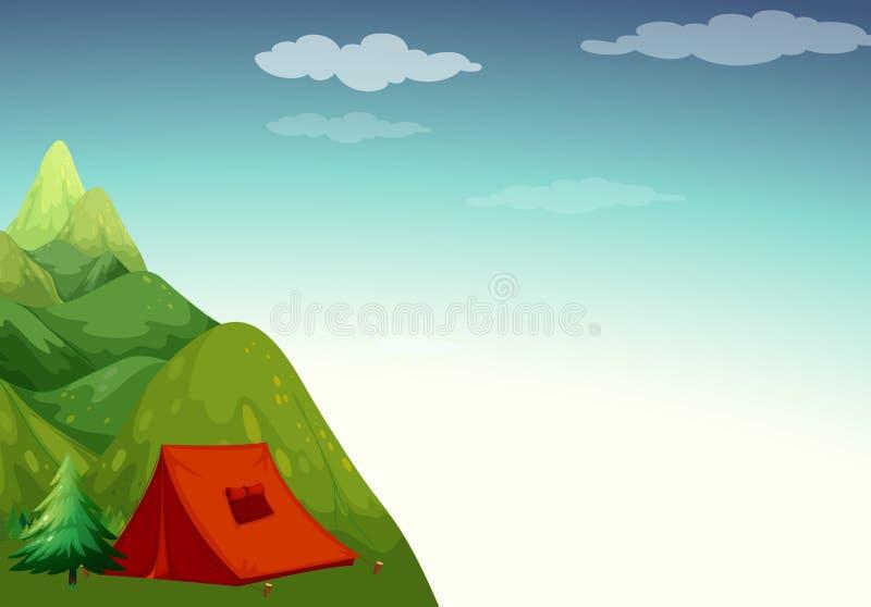 Het kamperen Plaats vector illustratie