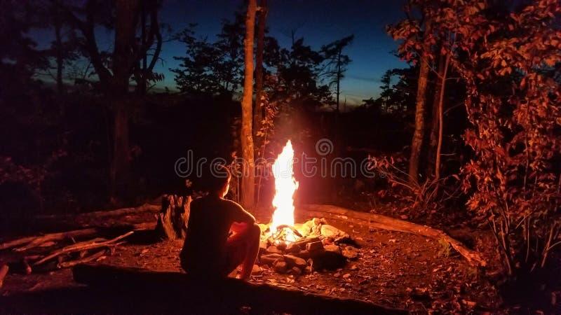 Het kamperen Rode Rivierkloof stock foto's