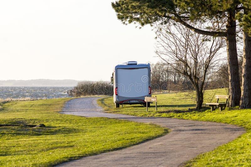Het kamperen in Roskilde stock afbeeldingen