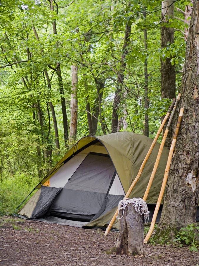 Het kamperen Tent stock fotografie