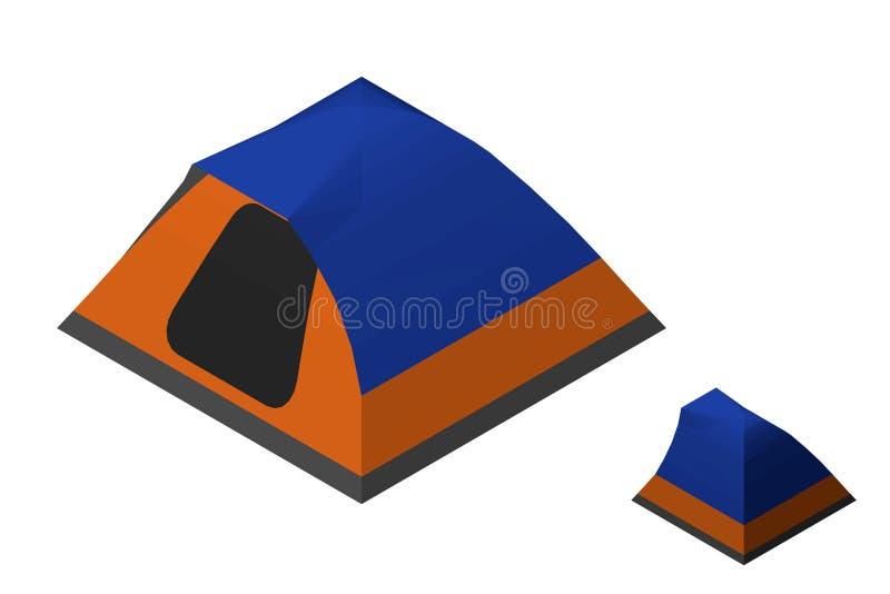Het kamperen Tent Geïsoleerdj op witte achtergrond Vector illustratie vector illustratie