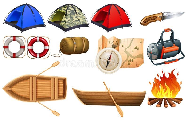 Het kamperen toestellen stock illustratie