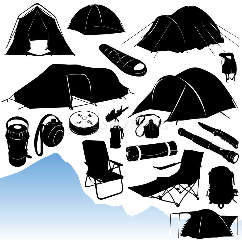 Het kamperen vector vector illustratie
