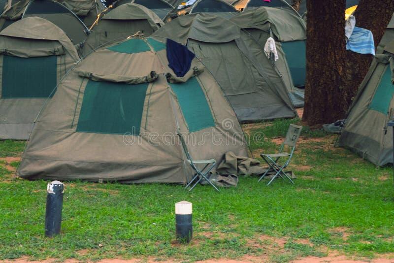 Het kamperen in Victoria Falls royalty-vrije stock fotografie