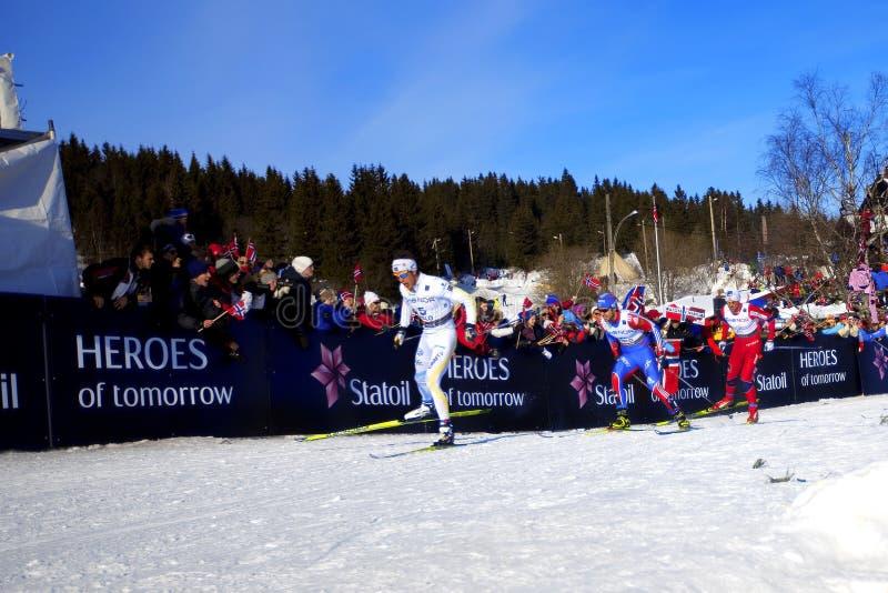het Kampioenschap 2011 Oslo van de Wereld van de Ski van 50km royalty-vrije stock afbeeldingen