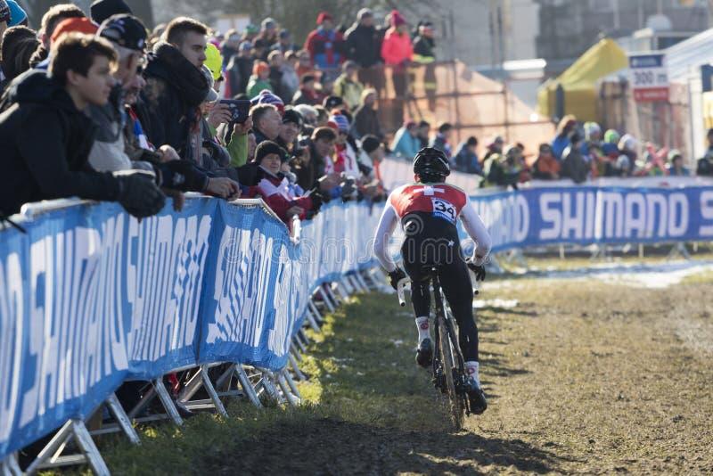 Het Kampioenschap 2015 Tabor, Tsjechische Republiek van de Cyclocrosswereld stock foto's