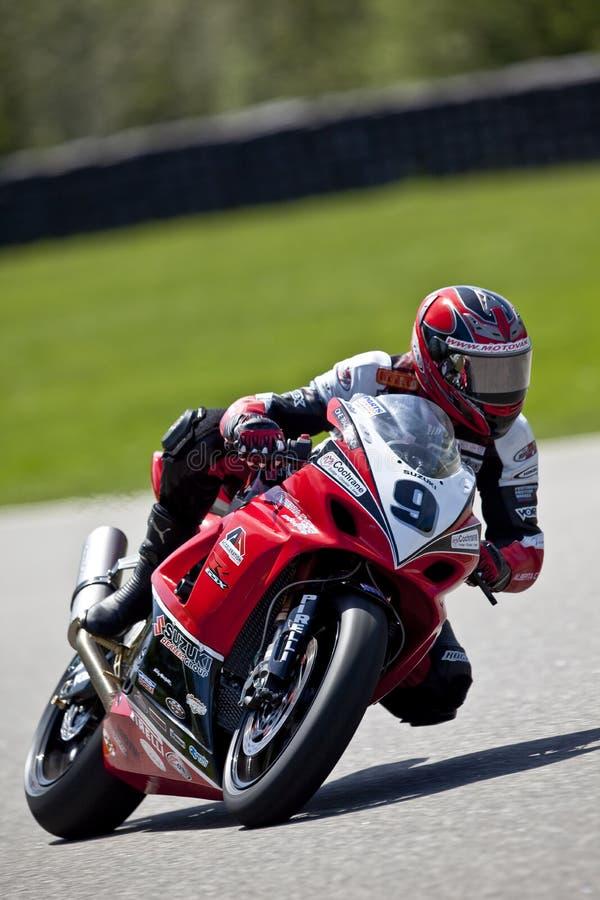 Het Kampioenschap van Canada Superbike van delen (Praktijk) mag stock afbeeldingen