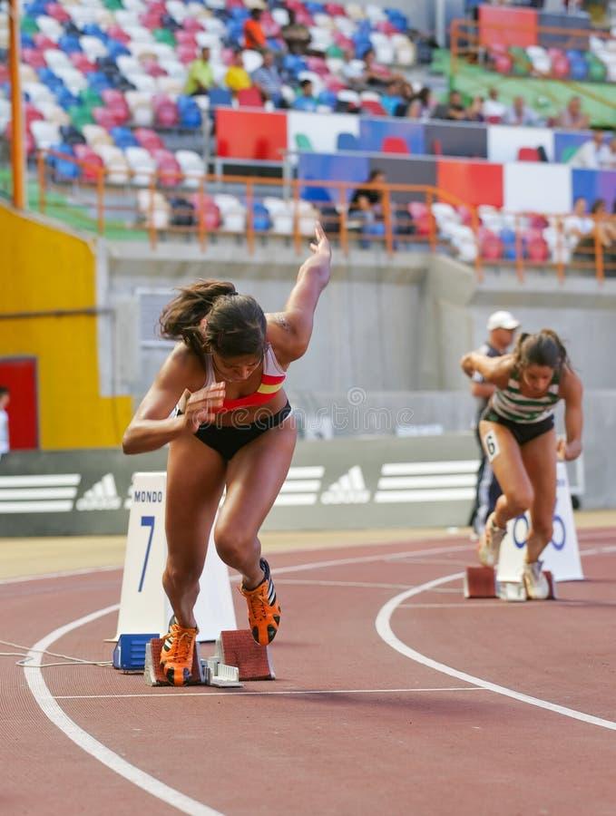 Het Kampioenschap van de atletiek, Mirian Tavares royalty-vrije stock afbeeldingen