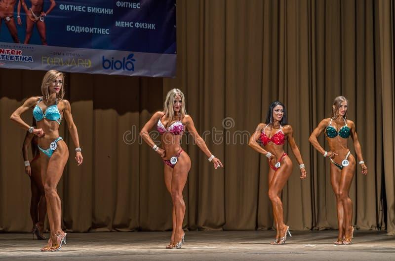 Het kampioenschap van de geschiktheidsbikini van het gebied van Donetsk royalty-vrije stock fotografie