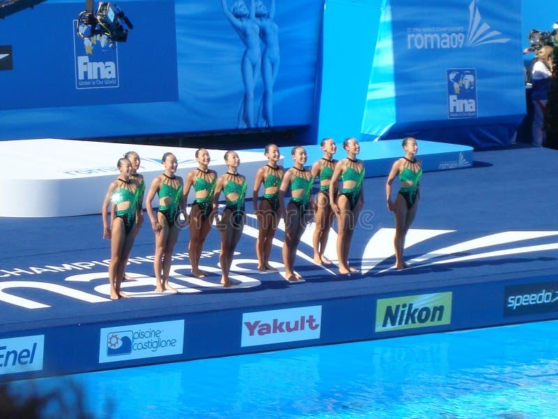 Het Kampioenschap van de Wereld FINA stock foto