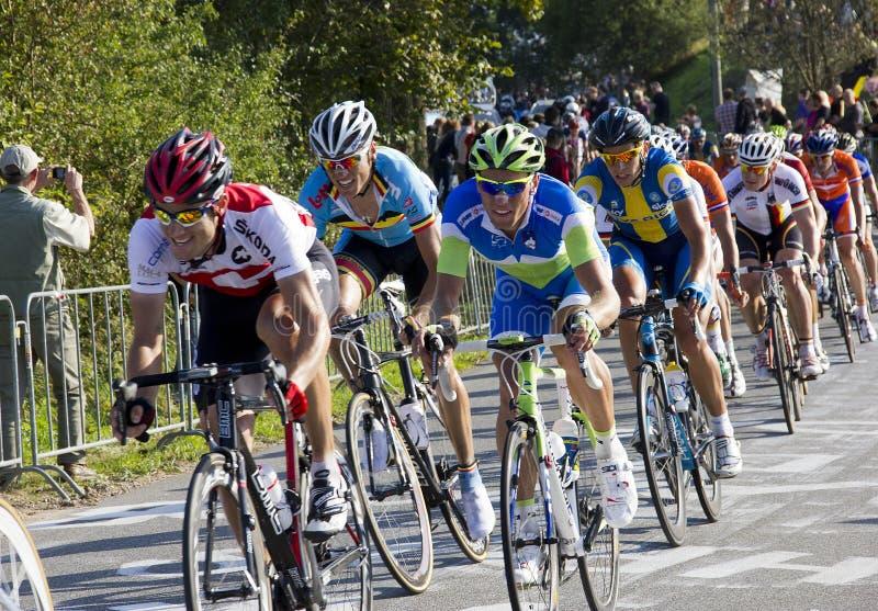 Het Kampioenschap van de Wereld van het Ras van de Weg UCI voor de Mensen van de Elite stock foto
