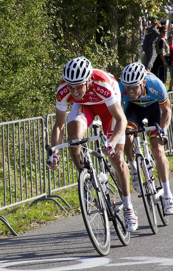 Het Kampioenschap van de Wereld van het Ras van de Weg UCI voor de Mensen van de Elite stock afbeeldingen