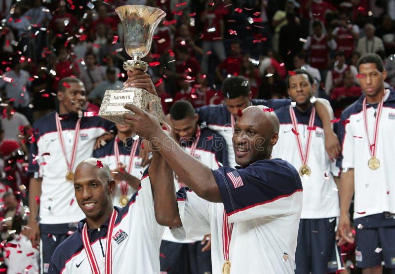 Het Kampioenschap van het Basketbal van de wereld stock afbeelding