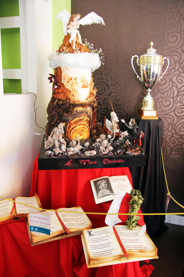 Het kampioenschap van het cakeontwerp stock fotografie