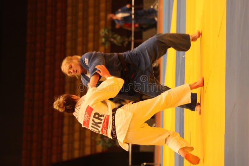 Het kampioenschap van het judo royalty-vrije stock foto