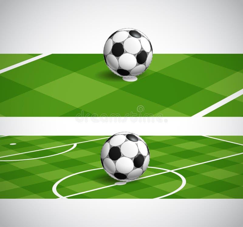 Het kampioenschapsbanners van het wereldvoetbal stock illustratie