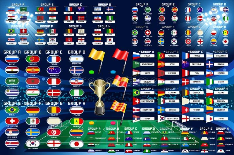 Het Kampioenschapsprogramma van de voetbalwereld royalty-vrije illustratie