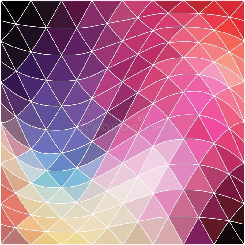 Het kan voor prestaties van het ontwerpwerk noodzakelijk zijn Geometrische abstracte textuur Retro patroon van royalty-vrije illustratie