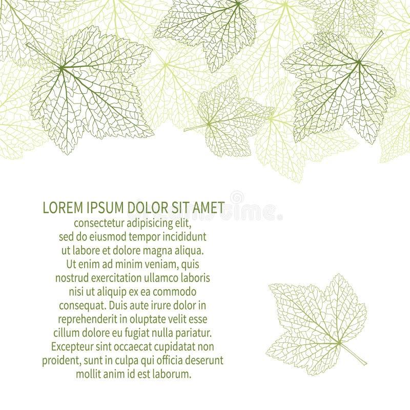 Het kan voor prestaties van het ontwerpwerk noodzakelijk zijn Groene bladeren met aders stock illustratie