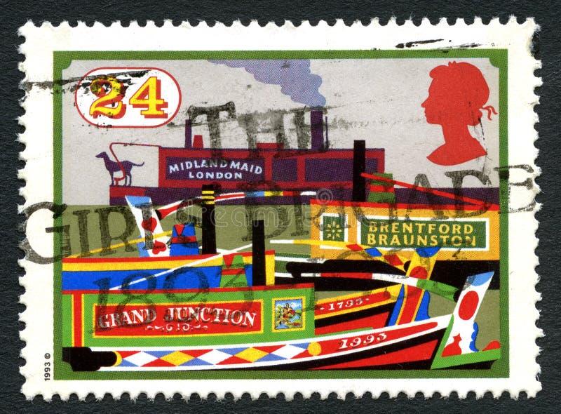 Het Kanaal Britse van Grand Junction Postzegel stock foto's