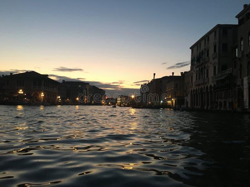 Het Kanaal Grande van Veneciavenedig stock afbeelding
