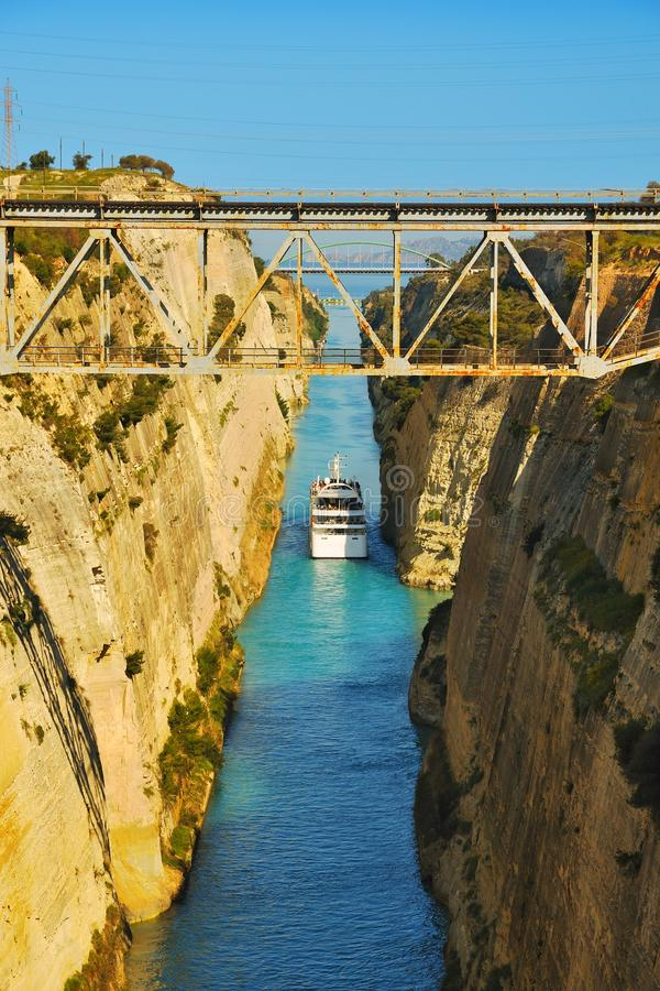Het Kanaal van Corinth stock foto's