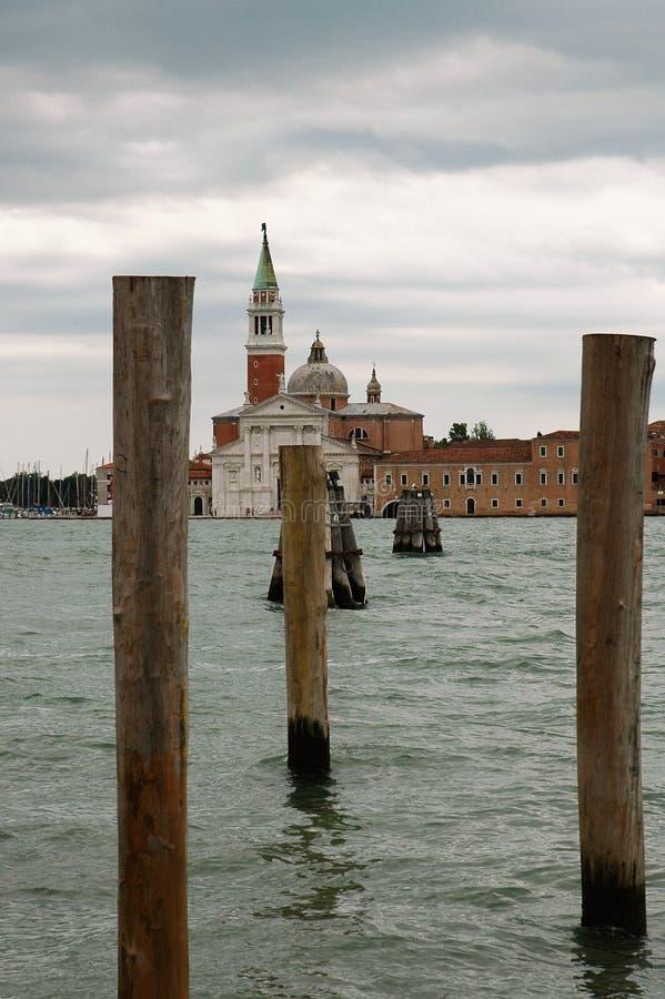 Het Kanaal van Giudecca in Veneti? royalty-vrije stock afbeelding