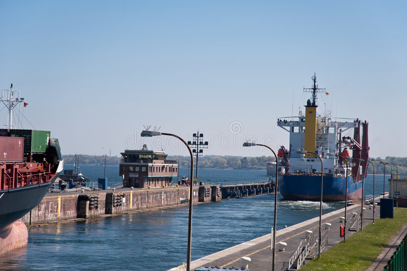 Het kanaal van Kiel stock afbeelding